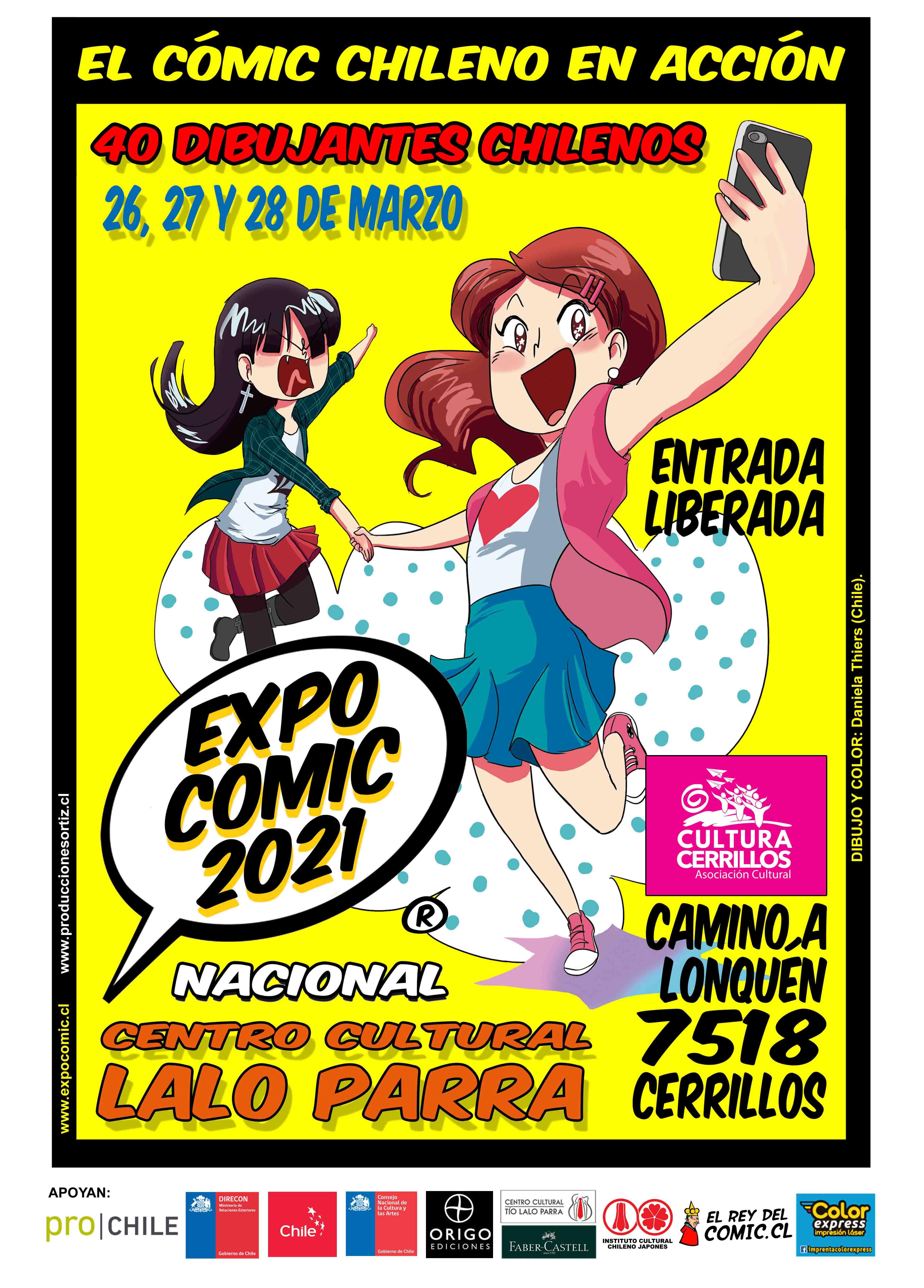 afiche EXPO-COMIC 2021 nac LALO con logos BAJA